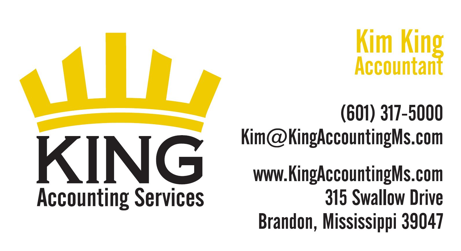 kim king, king accounting services